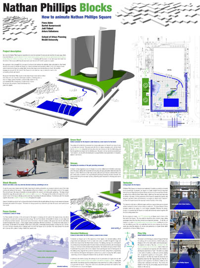 Nathan Philips Square urban design competition entry, MUP Class of 2007 students
