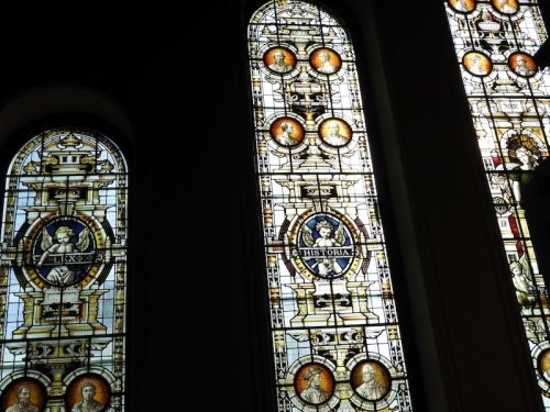Stained glass windows in Redpath Hall