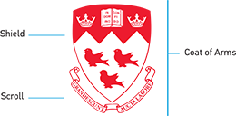 McGill Coat of Arms, Shield and Scroll