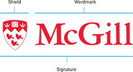 McGill Shield, wordmark and signature