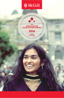 McGill convocation booklet cover 2016