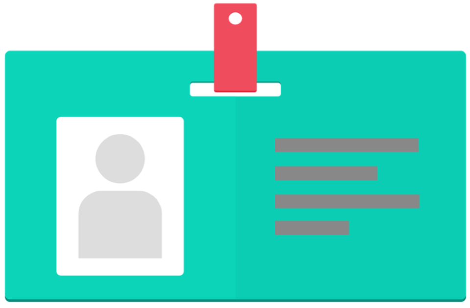graphical representation of an ID badge