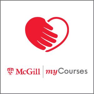 Module Mon cours logo avec coeur rouge